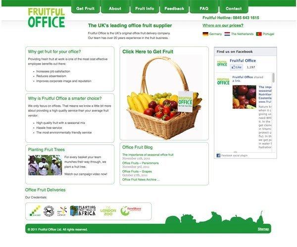 Fruitful office wordpress site