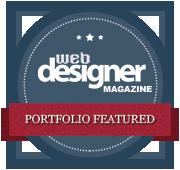 Portfolio featured in web designer magazine
