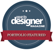 Portfolio featured in web designer magazine