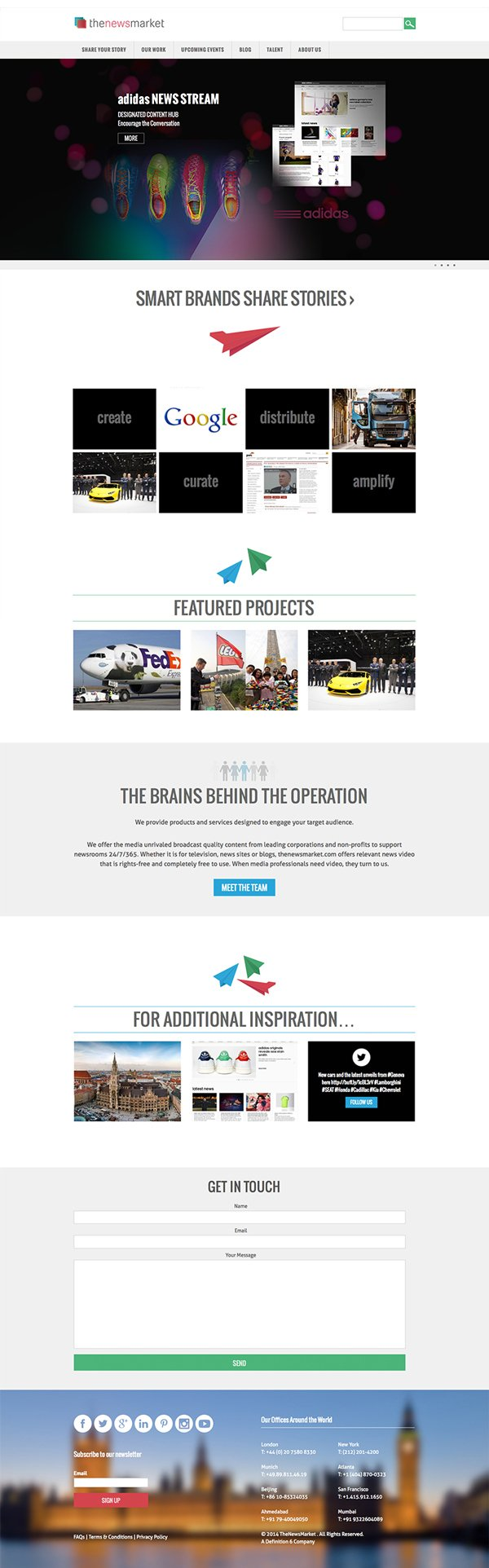 Corporate WordPress design, for the NewsMarket London
