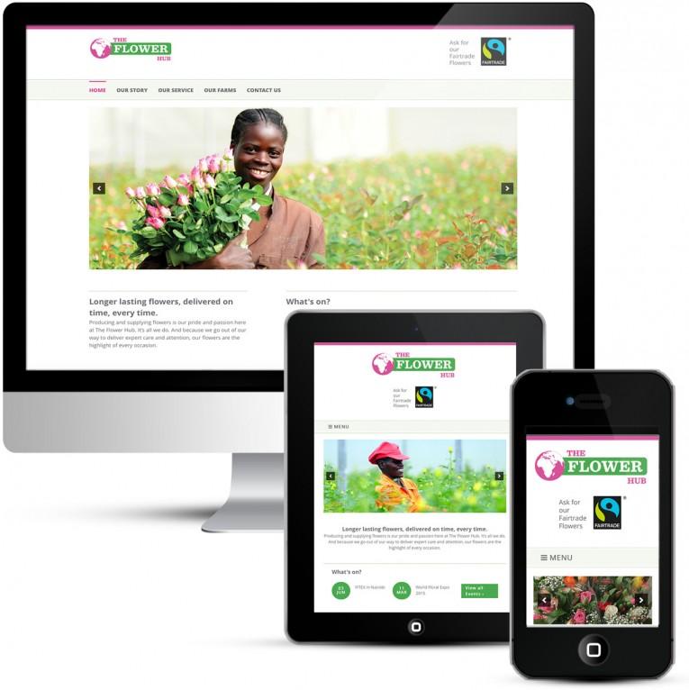 Mobile responsive webdesign for the Flower Hub