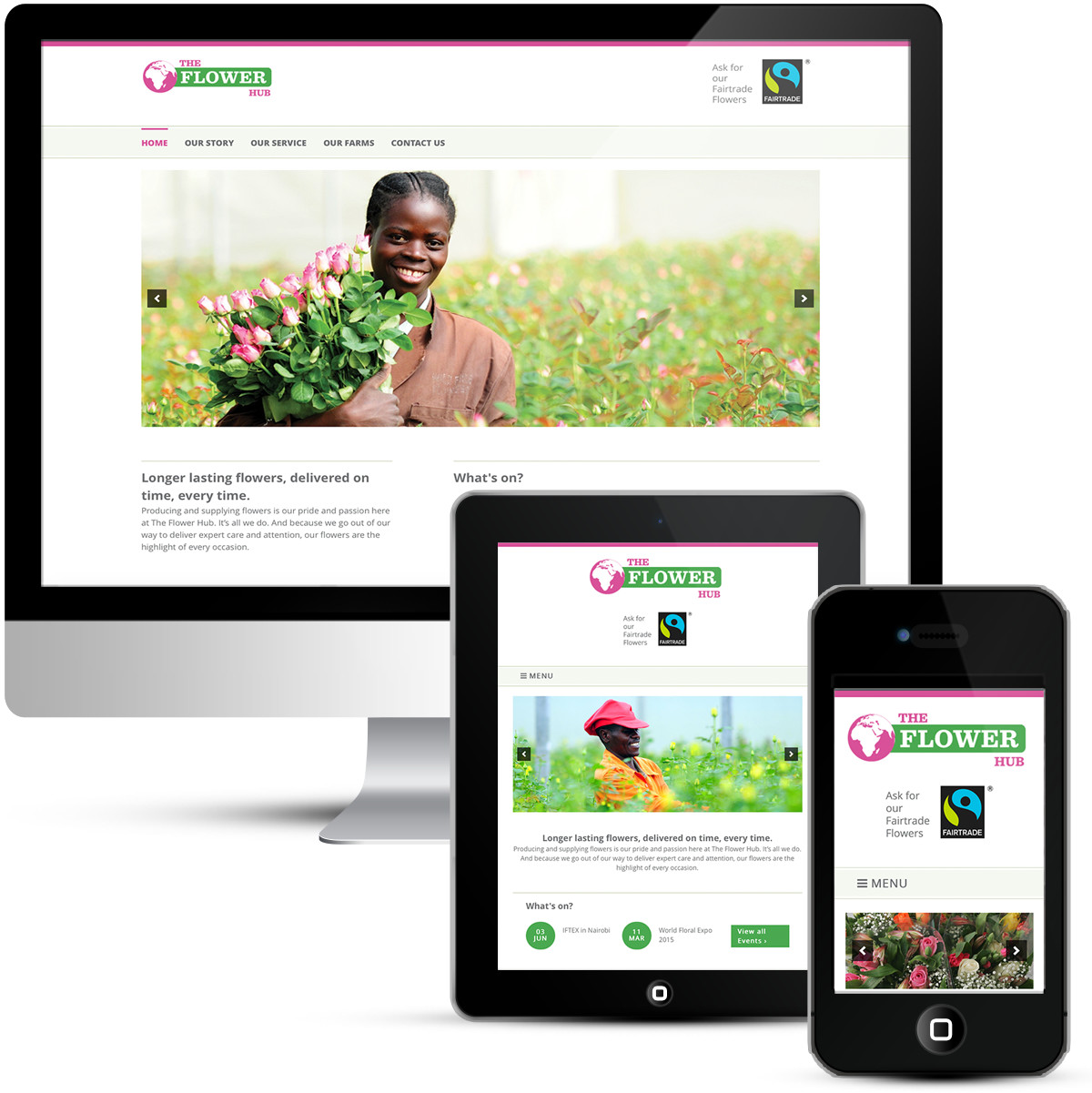 Mobile responsive webdesign for the Flower Hub
