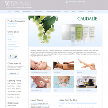 Wendy OHare Skincare Wordpress eCommerce Site