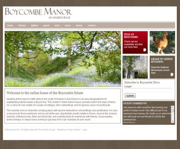 Boycome Manor Drupal Site