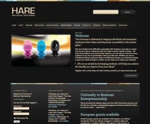 Hare new product development Wordpress site and blog