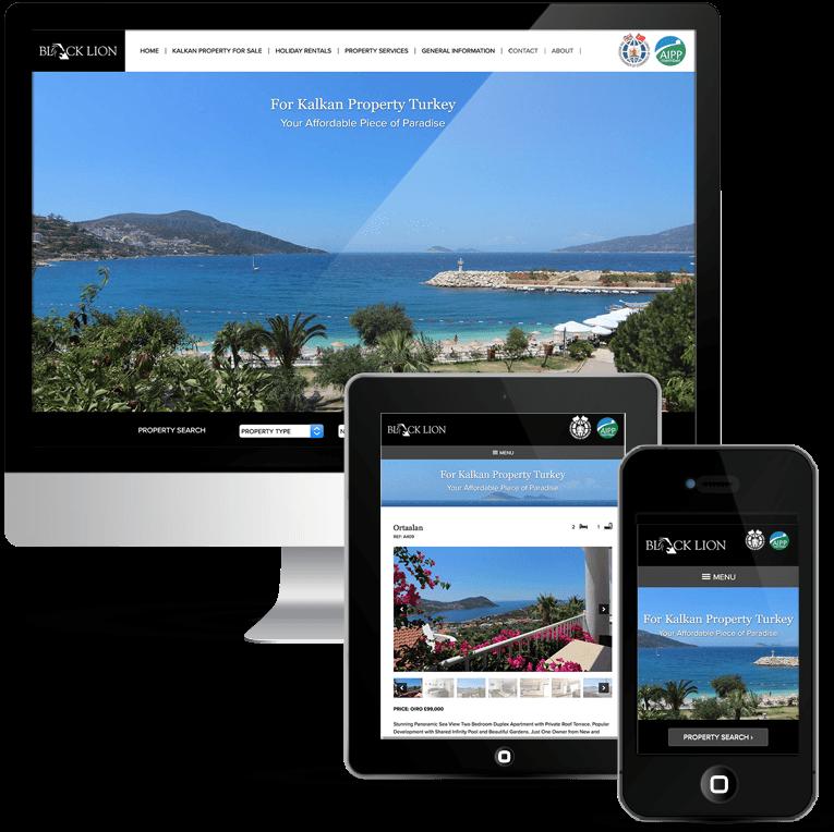 WordPress custom theme for Black Lion Estate Agents