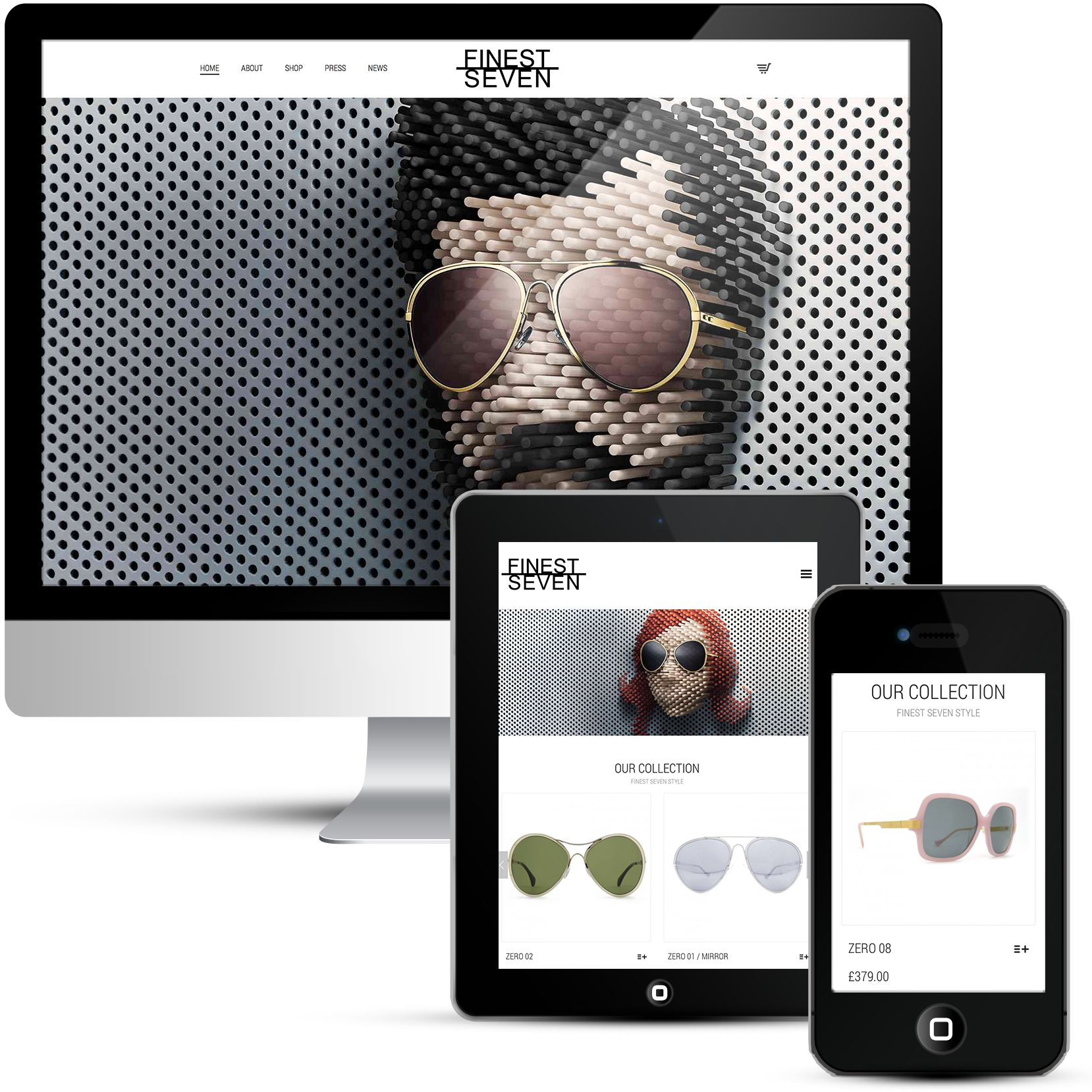 Finest Seven is a beautiful eCommerce site
