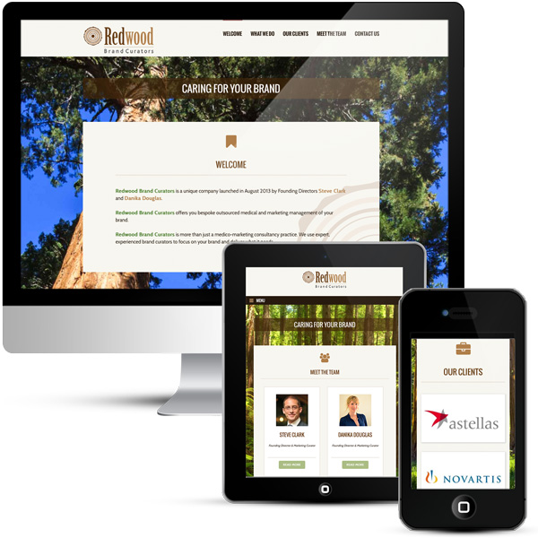 WordPress responsive design for Redwood Brand Curators