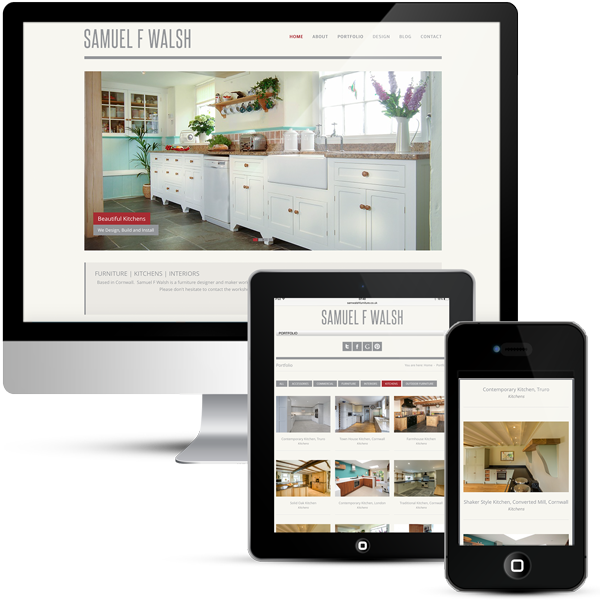 WordPress website development for Kitchen Designer