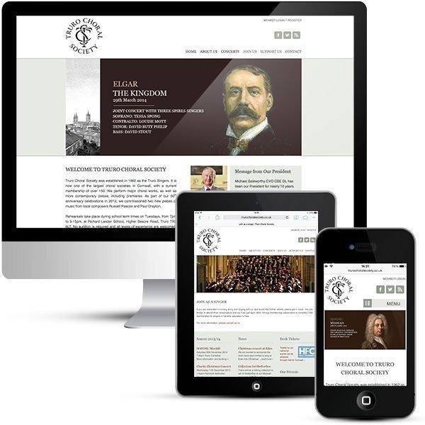 Truro Choral Society Wordpress Designer Portfolio