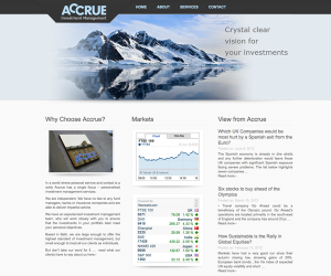 Wordpress site for stockbroker with Financial charts, new ticker, editable content