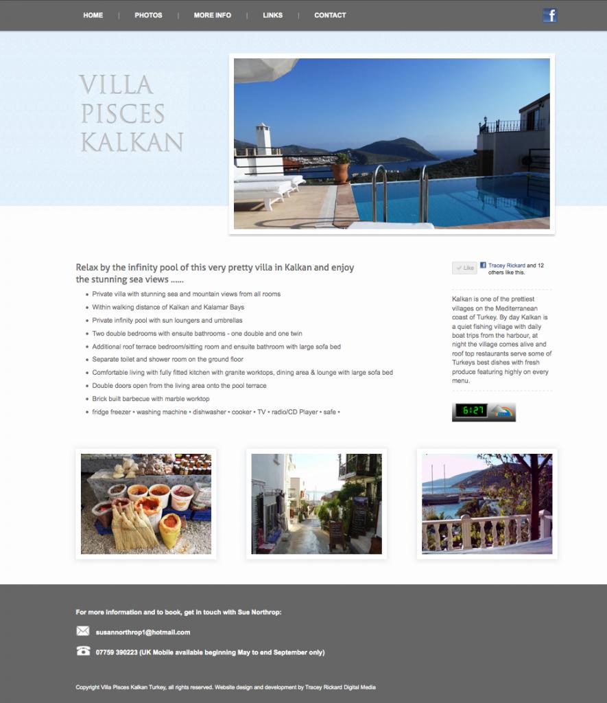 Website design for villa Pisces