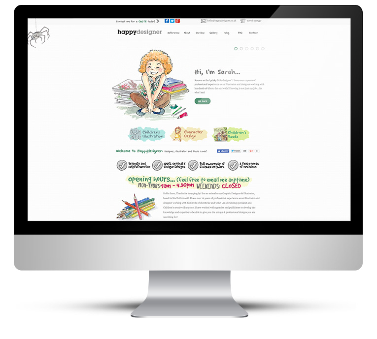 Custom WordPress Theme for Happy Designer