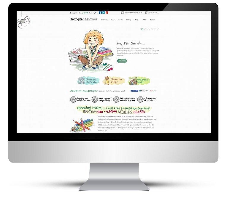 Custom WordPress Theme for Happy Designer