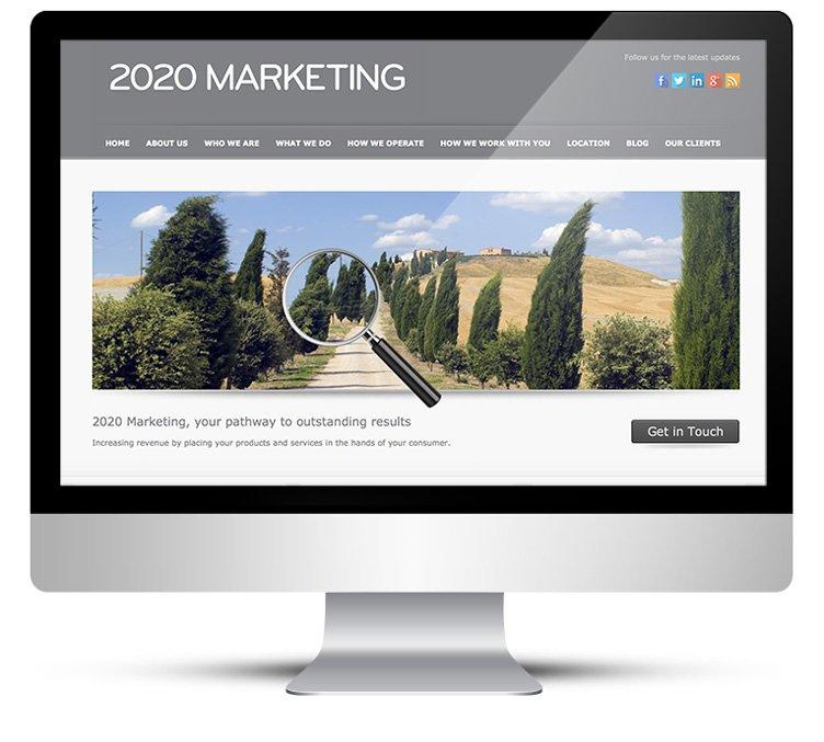 Custom WordPress design for marketing company