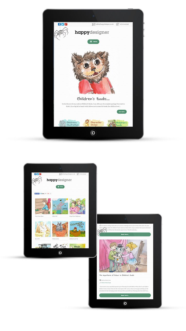 Mobile responsive design for tablets and iPads - Happy designer