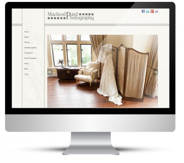 Wordpress design for wedding photographer