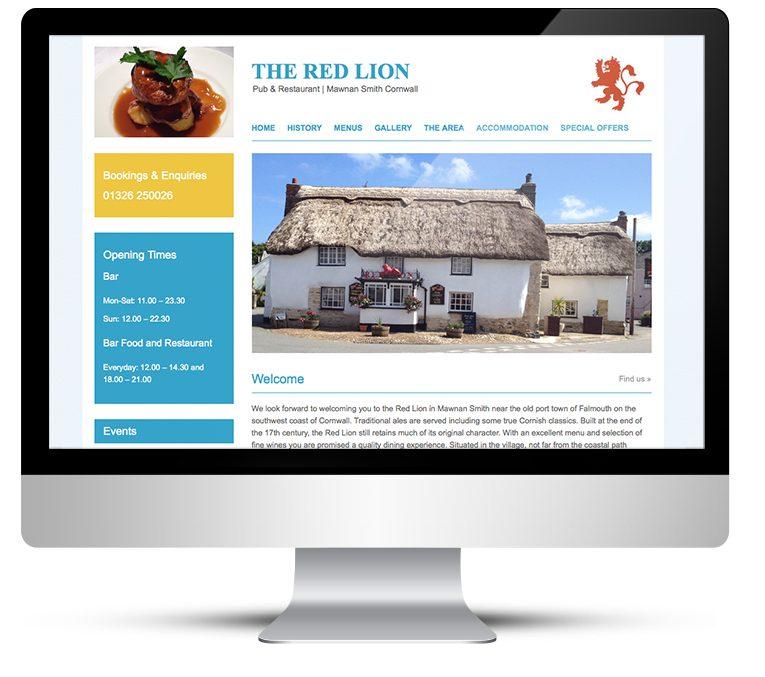 Web design and Wordpress custom theme development for the Red Lion