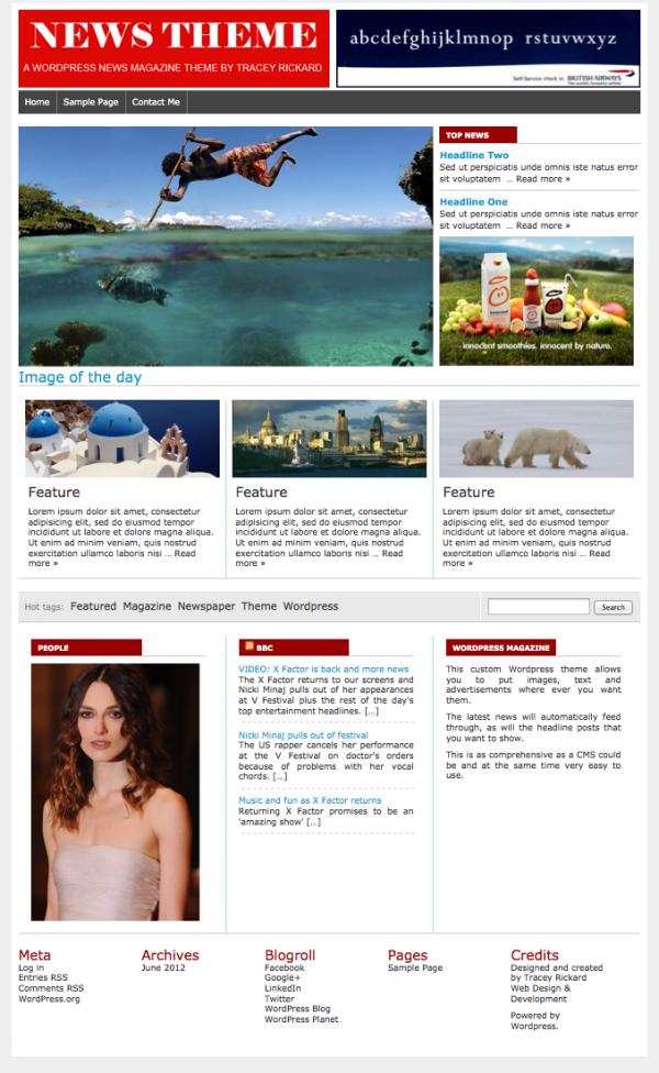 Wordpress design and development news theme