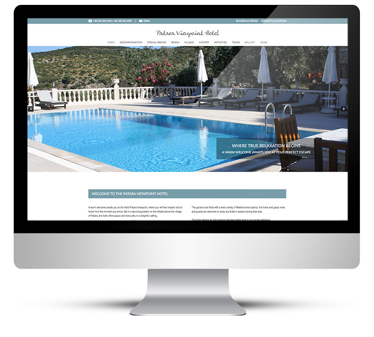 Patara Viewpoint Hotel - Freelance Web Designer Stratford