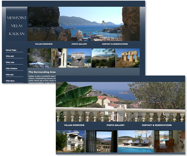 Web design & development for Viewpoint Villas