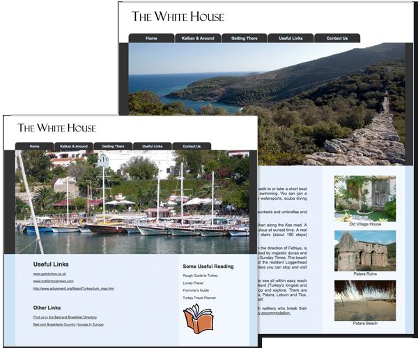 Website for pension in Turkey