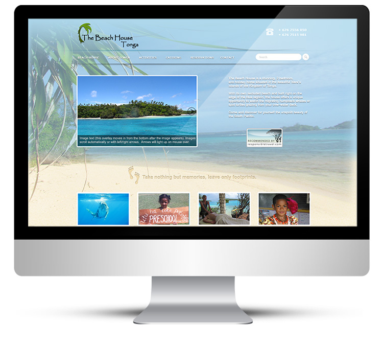 WordPress Custom Theme Design for Tonga Beach House