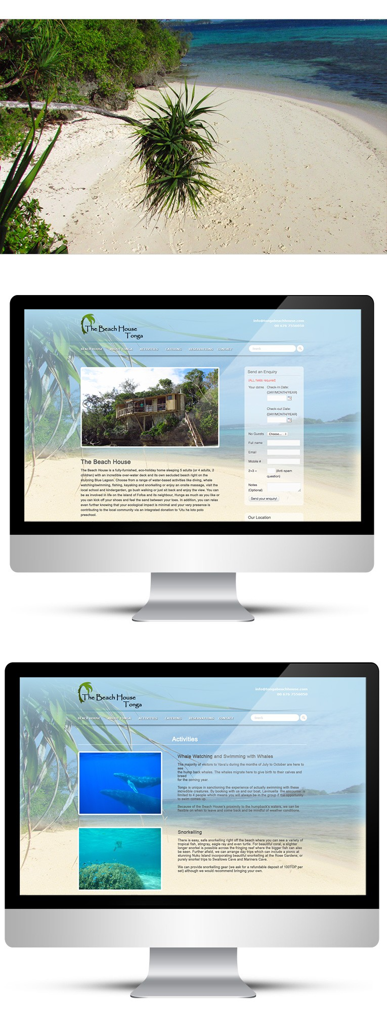 WebDesign for Holiday Homes in Tonga