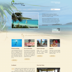 Tonga Beach House web design