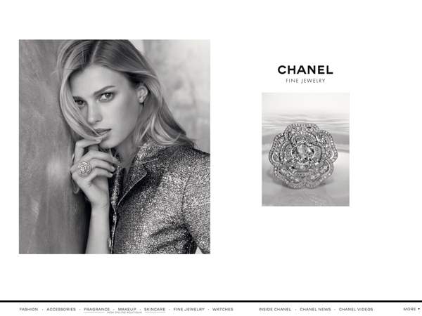 The beautiful website of Chanel