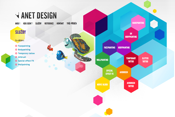 Attractive graphical website design