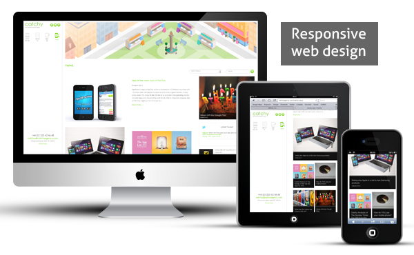 Responsive web design adapting for the device
