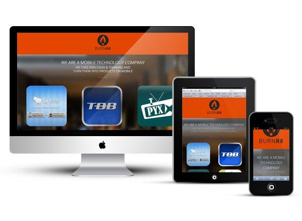Burnr8 responsive design website