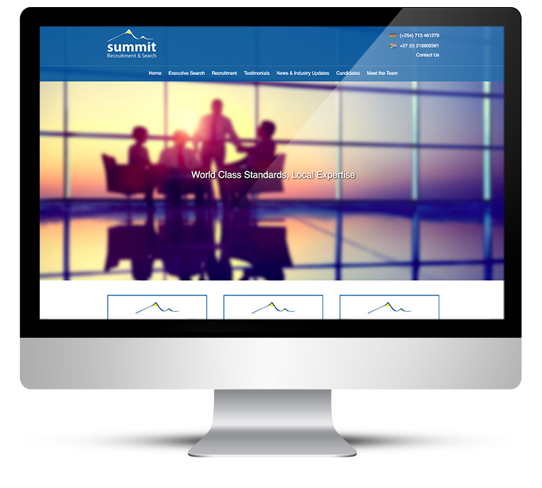 Custom designed WordPress website for recruitment company