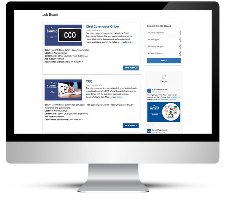 Bespoke WordPress theme for a recruitment company