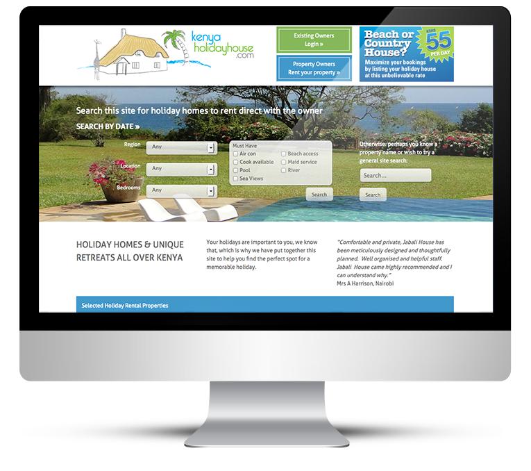 Responsive Website Design for Kenya Holiday House