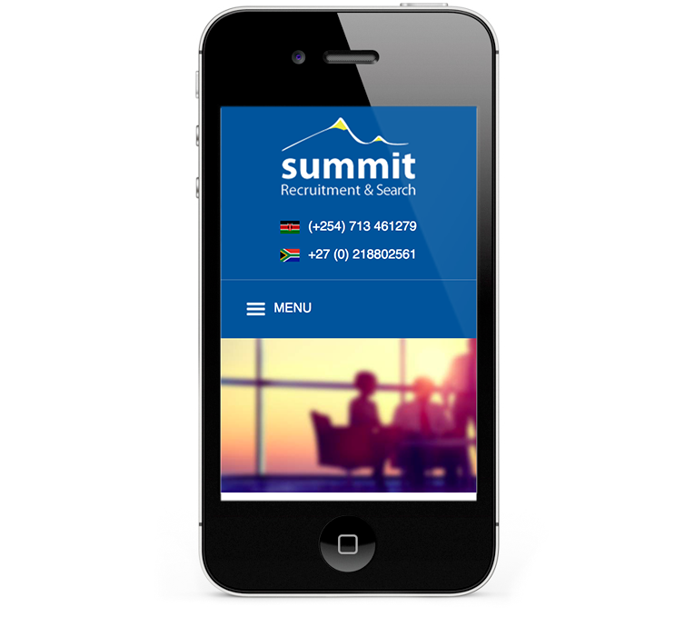 Responsive design iPhones and smartphones for recruitment company