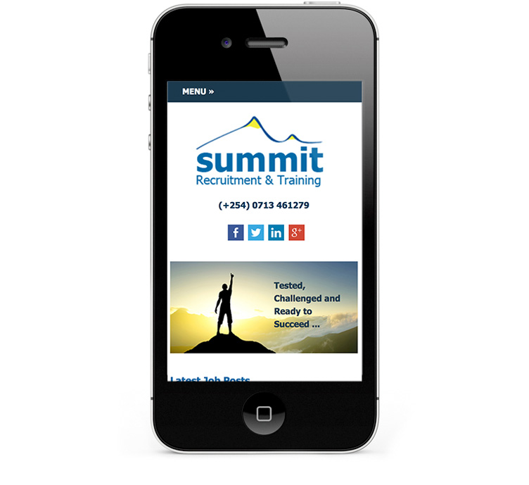 Mobile responsive webdesign, smartphone and iPhone