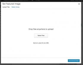 Upload image screen