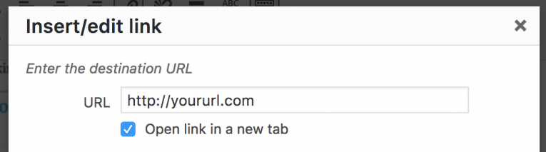 WordPress open link in a new window