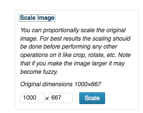 Scaling or resizing your image