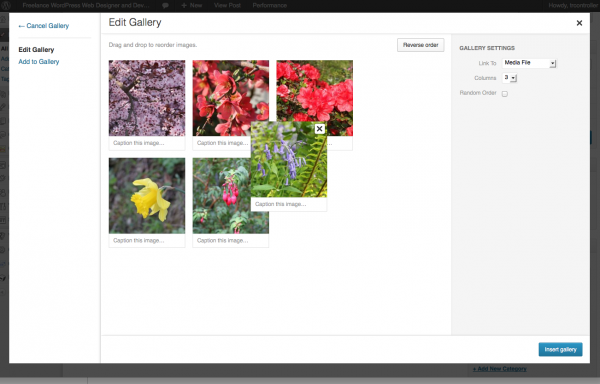 Organising your WordPress Gallery