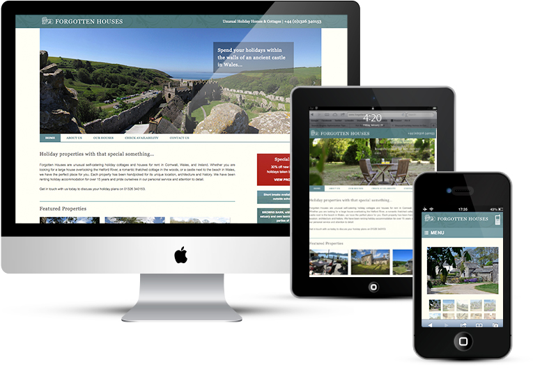 Forgotten Houses full CMS website for online booking