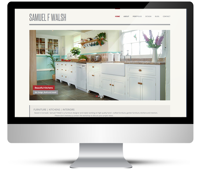 Responsive web design for furniture designer