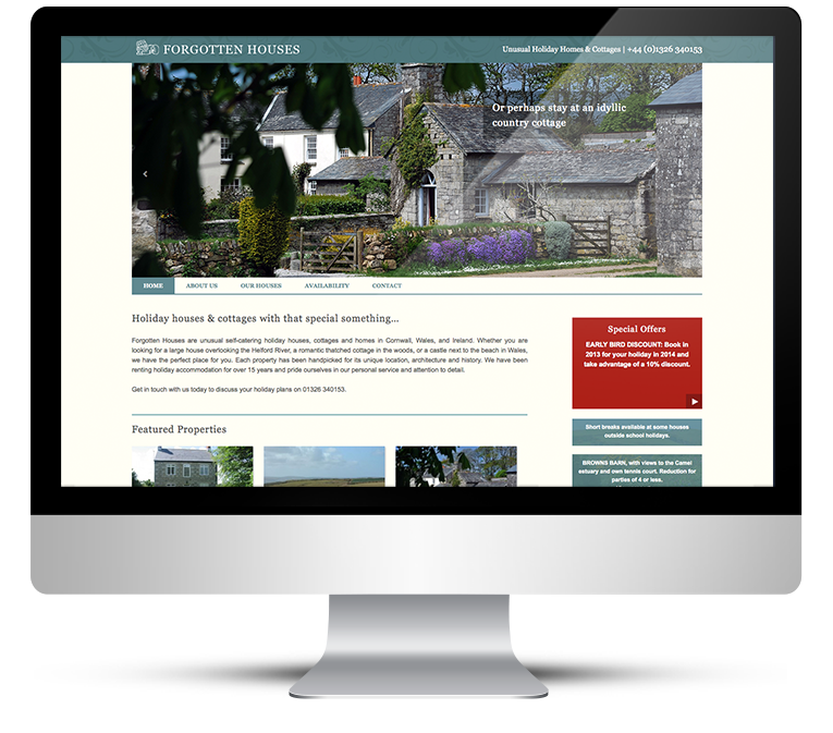 Forgotten Houses full CMS website for online booking