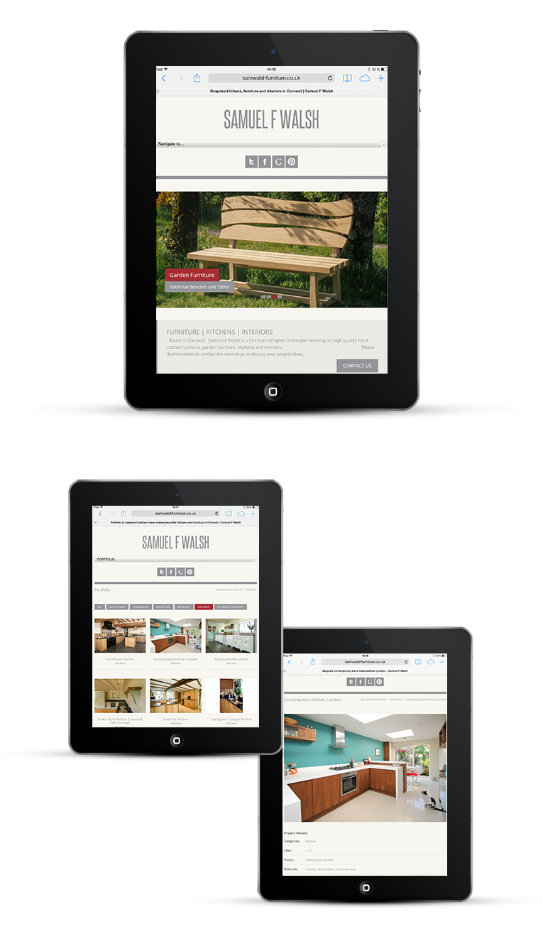 Mobile responsive web design Cornwall