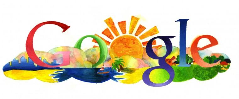 Google Sunrise Doodle