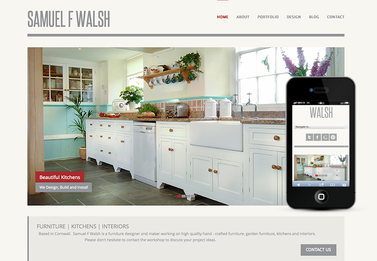 Sam Walsh Fully Responsive WordPress Design