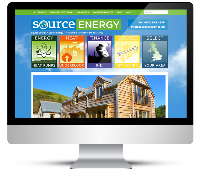 Green Website Design for Source Energy