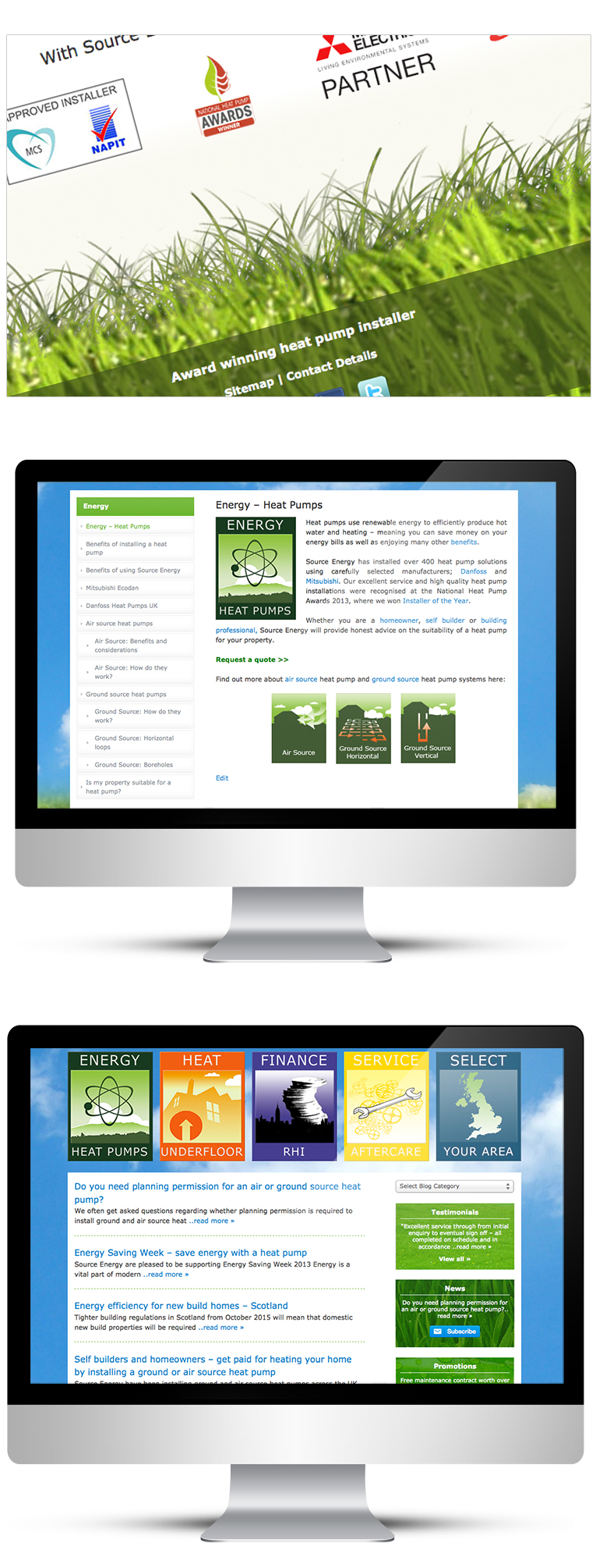 Website Design for Renewable Energy Business